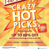 Isetan Crazy Hot Picks Promotion 2 - 6 Oct 2014