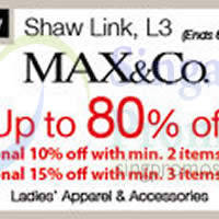 Read more about Max & Co Promotion @ Isetan Scotts 31 Oct - 20 Nov 2014