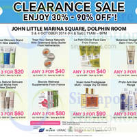 Read more about John Little Beauty Clearance Sale @ Marina Square 3 - 4 Oct 2014