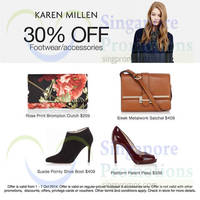 Read more about Karen Millen 30% Off Footwear & Accessories Promo 1 - 7 Oct 2014