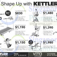 Kettler Fitness Equipment Offers 12 Sep 2014