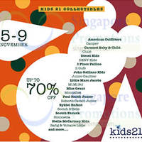 Kids 21 Collectibles Up To 70% OFF Promo 5 - 9 Nov 2014