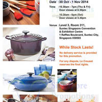 Le Creuset Family SALE 30 Oct - 1 Nov 2014