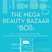 Read more about Luxasia Mega Beauty Bazaar 17 - 18 Oct 2014
