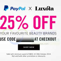 Read more about Luxola 25% OFF Storewide Coupon Code 16 - 30 Oct 2014
