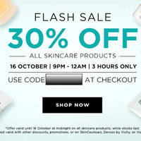 Read more about Luxola 30% OFF Skincare 3hr Coupon Code (NO Min Spend) 16 Oct 2014