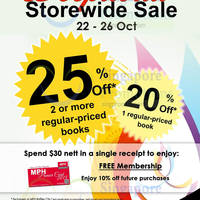 Read more about MPH Bookstores Up To 25% OFF Promo @ Raffles City 22 - 26 Oct 2014