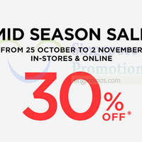 Mango 30% Off Mid Season Sale 25 Oct - 2 Nov 2014