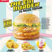 McDonald's Ebi Burger Is BACK 23 Oct 2014