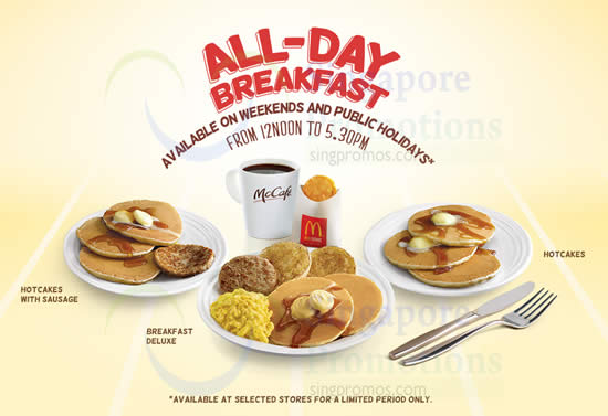 McDonalds All Day Breafkast 4 Oct 2014
