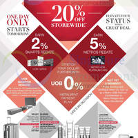 Read more about Metro 20% OFF Storewide 1-day Promo For UOB Cardmembers 18 Oct 2014