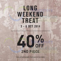 Read more about Miss Selfridge 40% OFF 2nd Piece Promo 3 - 6 Oct 2014