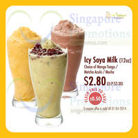 Read more about Mr Bean $2.80 Icy Soya Milk Coupon Promo 10 - 31 Oct 2014