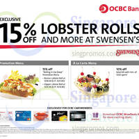 Swensen's Up To 15% OFF For OCBC Cardmembers 22 Oct - 30 Nov 2014