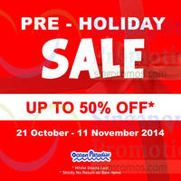 Ocean Paradise Sale 21 Oct - 11 Nov 2014