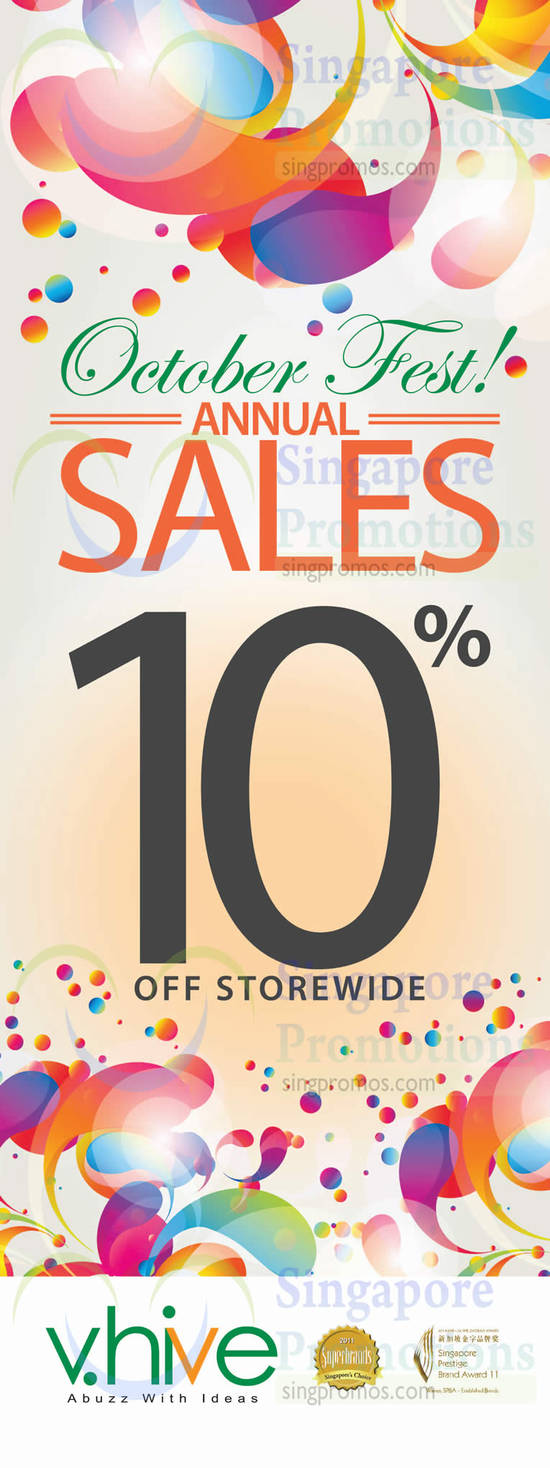 October Fest 10 Percent Off Storewide