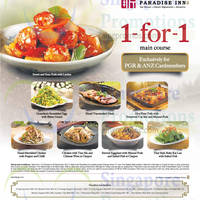 Read more about Paradise Inn 1-for-1 Main Course For ANZ Cardmembers 15 Oct - 30 Nov 2014