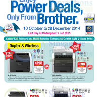 Read more about Brother Printers & Scanners Promotion Price List Offers 10 Oct - 28 Dec 2014