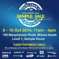 Read more about Royal Sporting House From $5 Sample SALE 8 - 10 Oct 2014