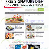 Sakae Sushi Exclusive Treats For OCBC Cardmembers 2 Oct 2014 - 30 Apr 2015
