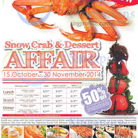 Read more about Sakura NEW Snow Crab (Free Flow) & 50% OFF Birthday Treats Promo 15 Oct - 30 Nov 2014