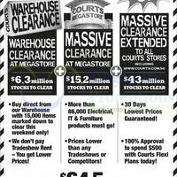 Courts Massive Clearance Upsized 3-Day Offers 25 - 27 Oct 2014