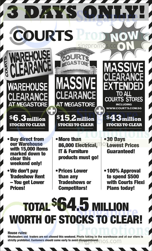 Sale Details, Massive Clearance, Electrical Products, IT Products, Furniture