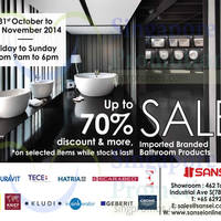 Sansei Up To 70% OFF Sale 31 Oct - 2 Nov 2014