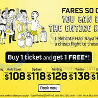 Read more about Scoot 1 For 1 Promo Air Fares 3 - 6 Oct 2014