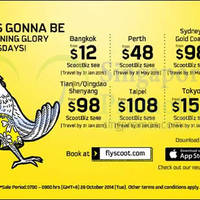 Read more about Scoot From $12 2hr Promo Air Fares 28 Oct 2014