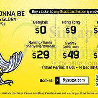 Read more about Scoot From $0 2hr Promo Air Fares (Return Direction) 7 Oct 2014