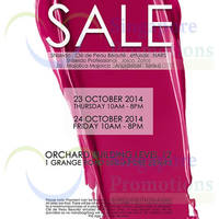 Shiseido SALE @ Orchard Building 23 - 24 Oct 2014
