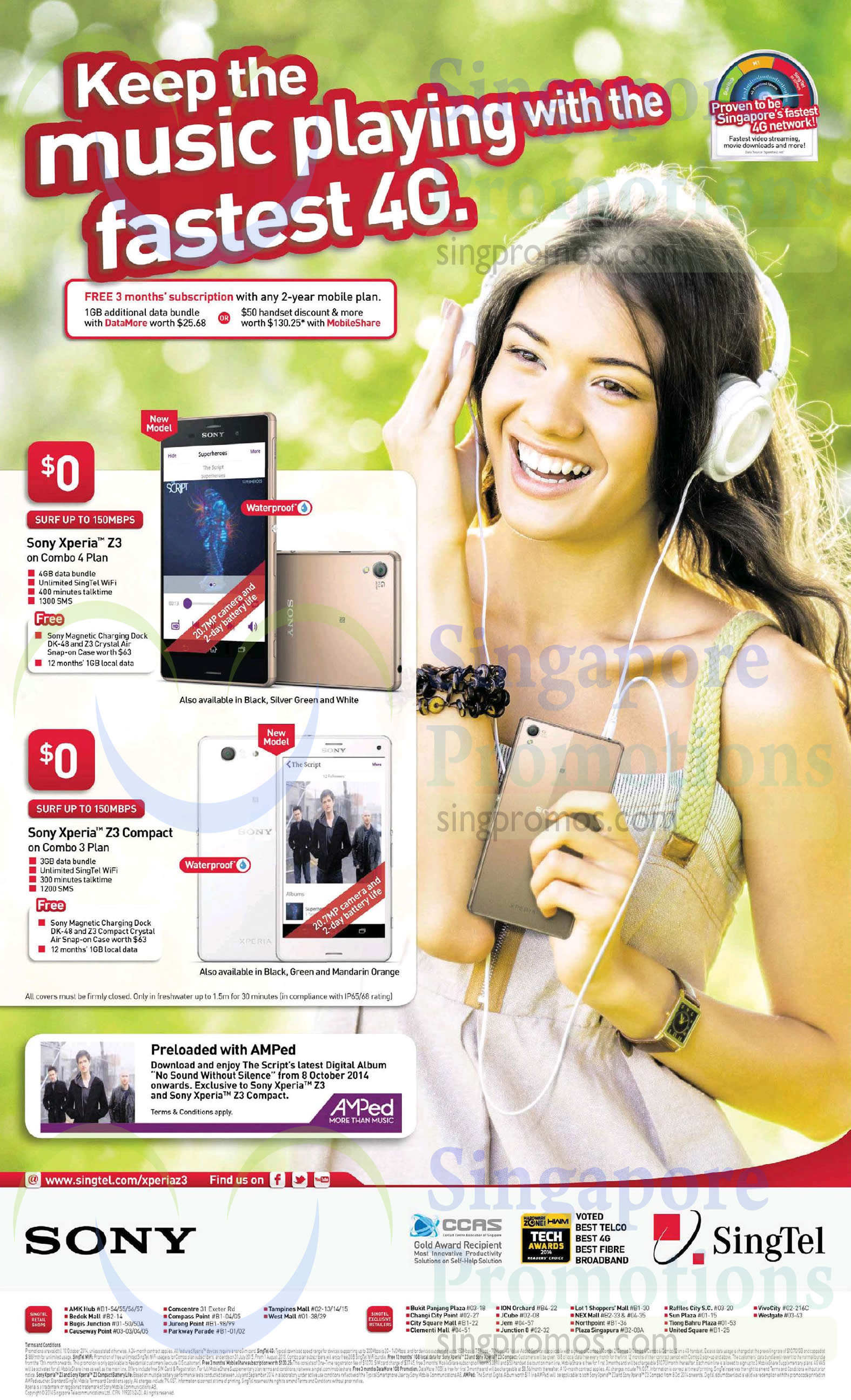 Singtel Sony Xperia Z3, Sony Xperia Z3 Compact