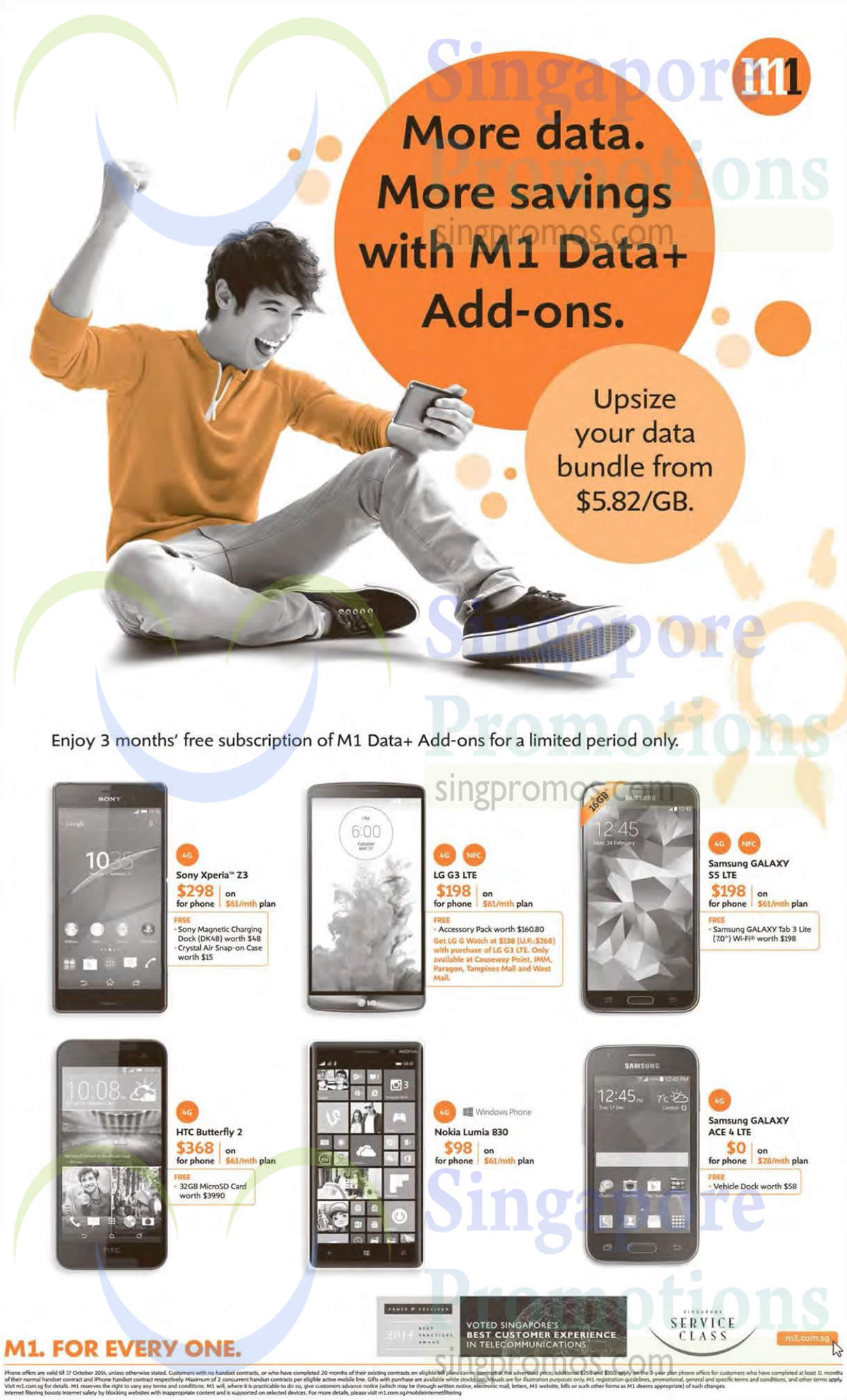 Sony Xperia Z3, HTC Butterfly 2, LG G3, Nokia Lumia 830, Samsung Galaxy S5, Samsung Galaxy Ace 4