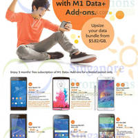 M1 Smartphones, Tablets & Home/Mobile Broadband Offers 25 - 31 Oct 2014