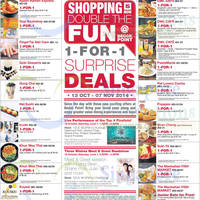 Read more about Bedok Point 1 for 1 Surprise Deals (Weekdays) 13 Oct - 7 Nov 2014
