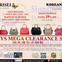 Read more about Surprisel Branded Handbags Sale @ Raffles Xchange 7 - 10 Oct 2014