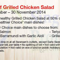 Read more about Swensen's 50% off Grilled Chicken Salad Coupon 1 Sep - 30 Nov 2014