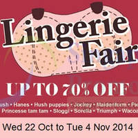 Takashimaya Lingerie Fair 22 Oct - 4 Nov 2014