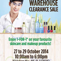 The Face Shop Warehouse SALE 27 - 29 Oct 2014