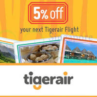 Read more about TigerAir 5% OFF Promo Code 5 - 15 Oct 2014