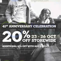 Timberland 20% OFF Storewide Promo 23 - 26 Oct 2014