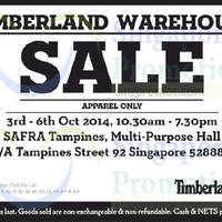 Read more about Timberland Warehouse Sale @ SAFRA Tampines 3 - 6 Oct 2014