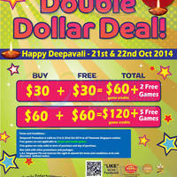 Timezone Double Dollar Deepavali Promo 21 - 22 Oct 2014