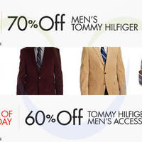 Read more about Tommy Hilfiger Up To 70% OFF Men's Suits & Accessories 24hr Promo 8 - 9 Oct 2014