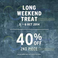 Read more about Topman 40% OFF 2nd Piece Promo 3 - 6 Oct 2014