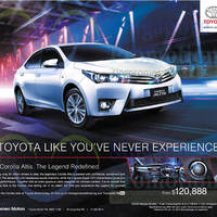 Toyota Corolla Altis Features & Offer 25 Oct 2014