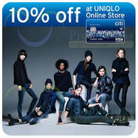 Read more about Uniqlo Online Store 10% OFF For Citibank Cardmembers 10 Oct - 31 Dec 2014
