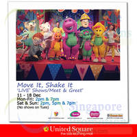 United Square Move It, Shake It 'Live' Show 11 - 18 Dec 2014