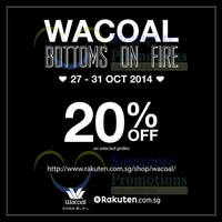 Read more about Wacoal 20% Off Shapewear Online Promo 28 - 31 Oct 2014